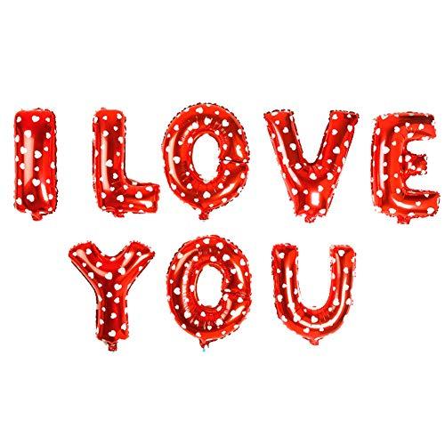 ED-Lumos Rot ICH Liebe Dich Wiederverwendbare Helium-Ballons für Valentinstag-Hochzeitsfest-Dekoration-Geschenk (Liebe Ich Dich-ballon)