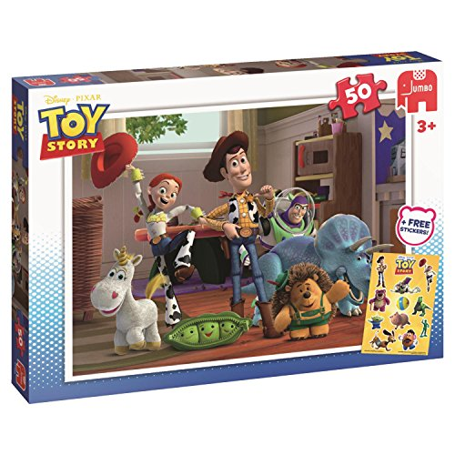 Jumbo 17159 - Disney Toy Story 50 Teile inklusive Sticker, Klassische Puzzle (Toy Story Sticker)