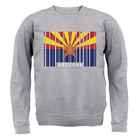 Arizona Barcode Flagge - Kinder Pullover/Sweatshirt - Grau meliert - XXL (12-13 Jahre)