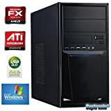 Captronic® Windows XP Professional SP3 (Lizenz + Datenträger) | Silent PC Front USB 3.0 AMD FX-Series FX-4130 4x 3,80GHz (Turbo bis 3900MHz) QuadCore | KINGSTON 4GB DDR3-1600 | 24x DVD-Brenner | 500GB HDD SATA3 (6Gb/s) | ATI Radeon HD 3000 1GB VGA/DVI | CardReader | 7.1 Sound | GigabitLAN | Design Gehäuse Schwarz