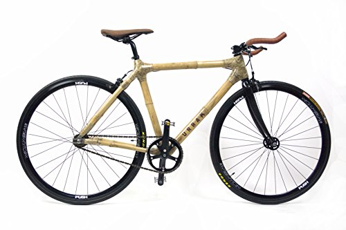 'urbam bambú bicicleta – Fixie/Single Speed Black Edition ', naturaleza