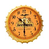 Crown Bottle Cap Retro Wanduhr Adornment Bracket Clock Silent-Wand-Dekor E