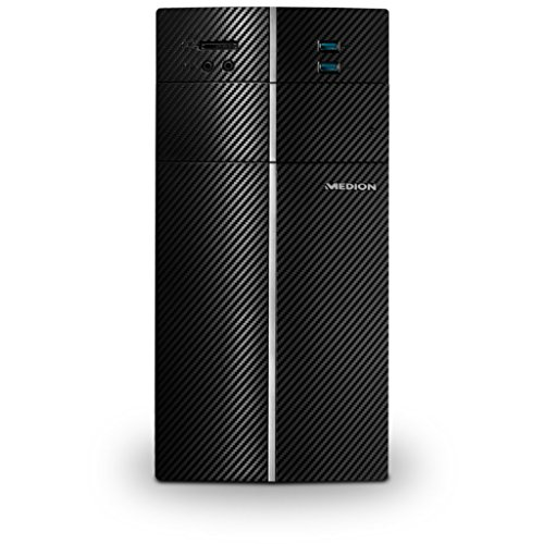 MEDION AKOYA P22001 Desktop-PC (Intel Core i3-7100, 8GB DDR4 RAM, 128GB SSD, 1TB HDD, Win 10 Home) schwarz