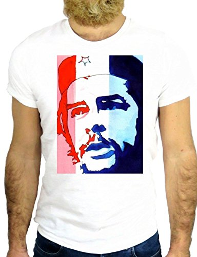 T SHIRT Z0972 CHE VINTAGE CUBA FUN HERO FIGHTER HAVANA USA AMAZING CIGAR GGG24 BIANCA - WHITE
