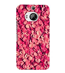 FUSON Heap Red Rose Petals 3D Hard Polycarbonate Designer Back Case Cover for HTC One M9 Plus :: HTC One M9+ :: HTC One M9+ Supreme Camera