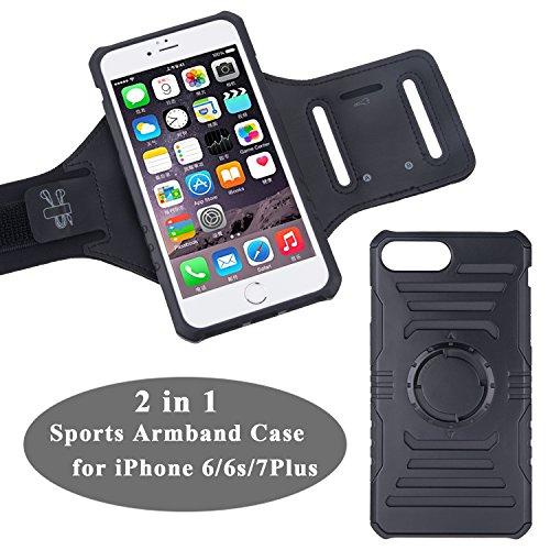 iPhone 7 / 7 plus Sport-Armband, B-Land UK Sweatproof Armtasche Hülle Oberarmtasche mit Schlüsselhalter und Verlängerungsband für iPhone 6 / 6S / 7 / 7 plus (iphone 7 plus)