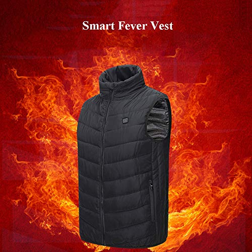 51kIa8wLbQL. SS500  - DZX Winter Heating Vest/Warm Clothing Electric Jacket,USB Heating-For Camping, Hiking, Skiing And Ice Skating,S