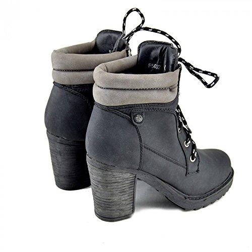 Kick Footwear Combat Boots, Stivali donna Nero (nero)