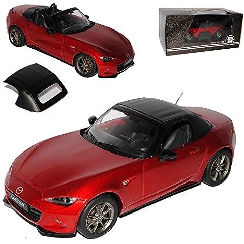 Mazda MX5 ND Cabrio Rot Metallic mit abnehmbarem Soft Ab 2015 Limitiert 1 von 600 Triple 9 1/18 PremiumX Modell Auto mit individiuellem (Modellauto Mazda Mx 5)