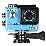 Andoer 4K 30fps 1080P 60FPS Full HD DV 2.0in LTPS écran LCD Wifi étanche 170 ° Grand Angle Caméra d'action Caméra de Sports Caméscope numérique vidéo DVR voiture