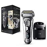 Braun Series 9 9296cc Wet&Dry - Afeitadora Eléctrica para hombre para Barba, Recortadora de Precisión Extraíble, Recargable Inalámbrica, Clean&Charge, Cromo