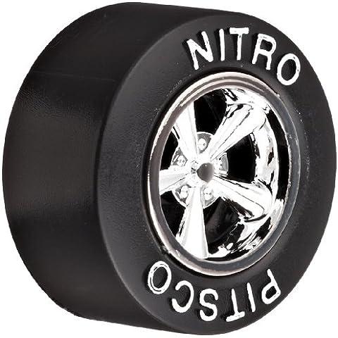 Pitsco Nitro Wheel with White Raised Letters/Chrome Hub (Pack of 100)