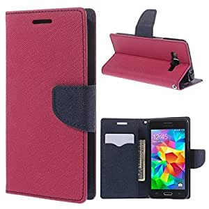 Samsung Galaxy A7 Mercury Dairy Style Flip Cover by Cover Wala - Pink