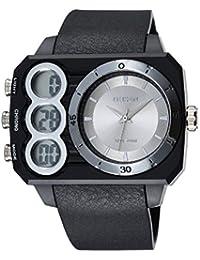 OHSEN Reloj De Deportivo De Moda Impermeable De Hombre Mujer Con Doble LED Multifunción Cronómetro Analógico - Negro / Plata