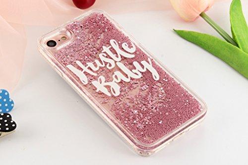 iPhone 6/6S Coque - 3D Design Créatif Prime Luxe Shine Flow Sand Adorable Flowing Flottant Mouvement Shine Glitter Sequins Bling Cute Pattern Téléphone Case pour iPhone 6/6S - Born to Shine 5-B