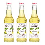 Monin Sirup Vanille, 0,25L 3er Pack
