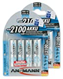 8x Ansmann Power Accu LSD NiMH Akku AA Mignon 2100 mAh maxE Akkubatterie
