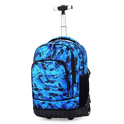 Unbekannt Schultaschen - Kinder-Trolley-Taschen Reisetaschen für Männer und Frauen Reiserucksäcke mit großer Kapazität (Camouflage) im Alter von 7 bis 18 Jahren