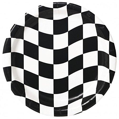 8 Assiettes en carton Racing - 23 cm