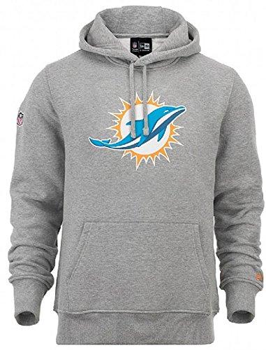 New Era Miami Dolphins Logo Hoodie NFL Sweatshirt Grau (XXXL) (Hoodie Logo Sweatshirt Grau)
