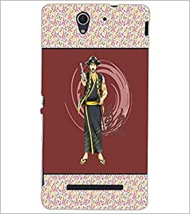 PrintDhaba Chinese Fighter D-3176 Back Case Cover for SONY XPERIA C3 (Multi-Coloured)