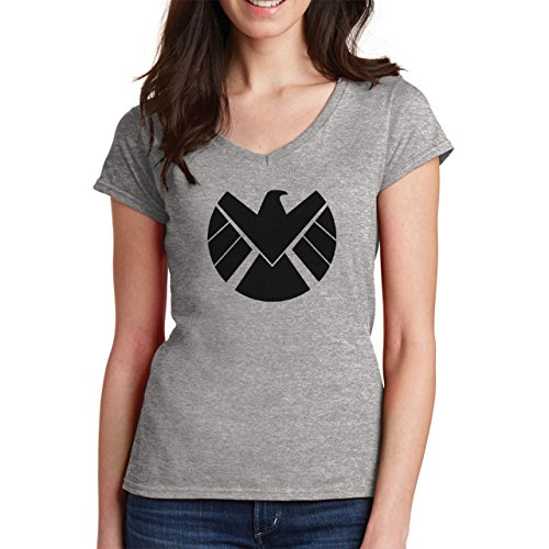 Agents Of S.H.I.E.L.D. Shield Logo Medium Donne V-Neck T-Shirt