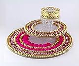 Paritosh Creations Round Shape 3 Layer Diya with Tea Light For Diwali Decoration