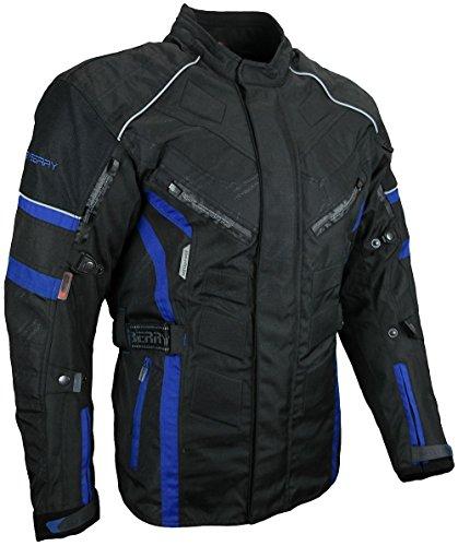 *Herren Touren Motorradjacke Textil Heyberry schwarz blau Gr. XL*
