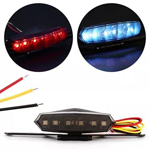 Lumière arrière professionnelle de queue de moto LED Lumière bonne qualité de stop de frein de qualité (couleur: noir)