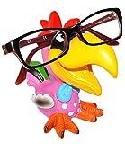 alles-meine.de GmbH Brillenhalter -  lustiger bunter Vogel - Hahn / Tukan / Papagei Ara - Gockel  - universal Größe - stabil aus Kunstharz - für Kinder & Erwachsene / Brillenha..