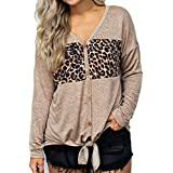 Ieason Women Top, Women Leopard Print Casual Top Fashion T Shirt Ladies Long Sleeve Blouse