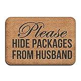 Ntpclsuits Please Hide Packages from Husband Doormat Entrance Floor Mat Funny Door Mat 15.7