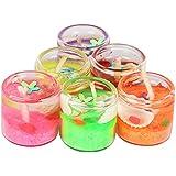 Gifts Galleria Decorative Designer Gel Candles Set For Decoration,Pack Of 6