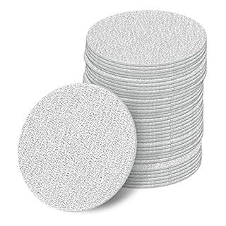 50 mm Exzenter Schleifscheiben Sortiment SET 50 Scheiben P800 P600 P400 P320 P240 , ohne Loch Klett Schleifpapier