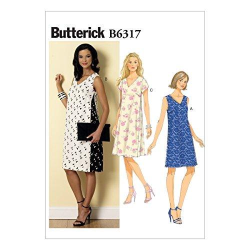 Butterick Patterns B6317 Misses' Pullover V-Neck Dresses, Size A5 (6-8-10-12-14) by BUTTERICK PATTERNS