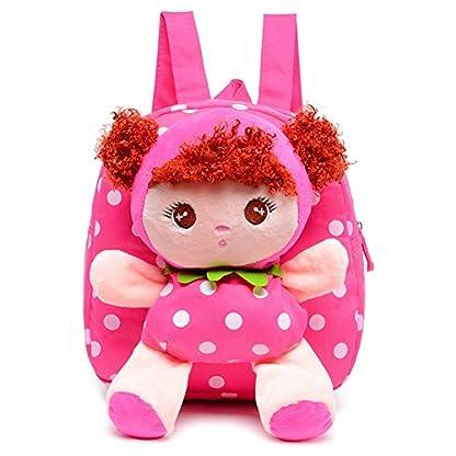 51kIiSjSMmL. SS416  - Moolecole Cartoon Cute Doll Mochila Toddler Girls Mochila de felpa mochila Sidekick mochila