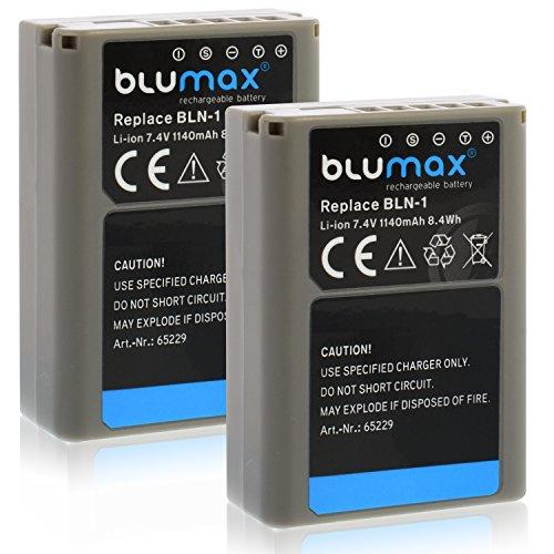 2x Blumax BLN-1 PS-BLN-1 Akku kompatibel mit Olympus OM-D E-M5 E-M1 und OM-D E-M5 Mark II 1140mAh 7,4V 8,4Whmehr leistung als Original akku