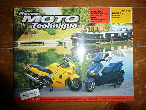 REVUE MOTO TECHNIQUE YAMAHA YP125R MAJESTY de 1998 à 1999 MBK YP125R SKYLINER de 1998 à 1999 HONDA VFR800 FI de 1998 à 2001 RRMT0115.2 - Réédition