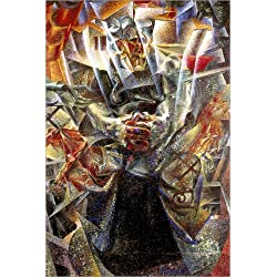Posterlounge Leinwandbild 100 x 150 cm: Materie von Umberto Boccioni/Everett Collection - fertiges Wandbild, Bild auf Keilrahmen, Fertigbild auf echter Leinwand, Leinwanddruck