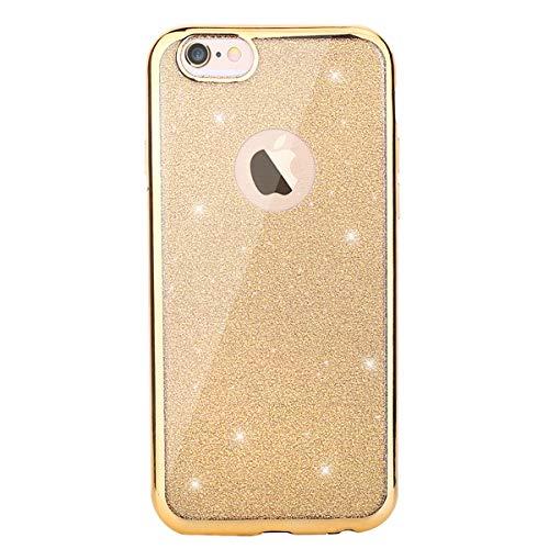 e8e157e8c7f CLTPY iPhone 6s Funda, iPhone 6 Transparente Cubierta Brillante Moda Diseño  Plating Bumper con Absorción