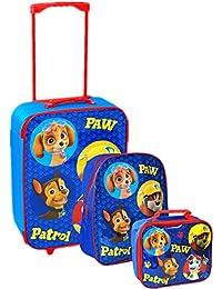 Nickelodeon, Patrulla Canina - Juego de maleta con ruedas, mochila escolar y bolsa para el almuerzo, azul, Luggage