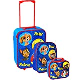 Nickelodeon® Paw Patrol Official Kids Children School Travel Trolley Luggage, Rucksack Backpack Bag and Lunch Bag Set (Blue)