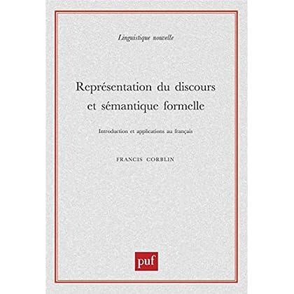 Représentation du discours et sémantique formelle