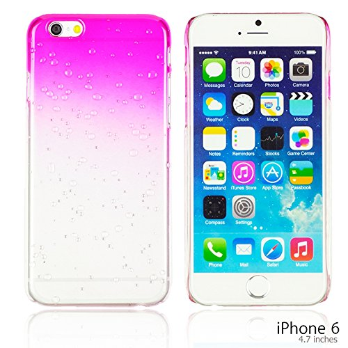 OBiDi - Transparent Gradient Water Drop Design Hard Back Case / Housse pour Apple iPhone 6 / 6S (4.7 inch)Smartphone - Blanc Hot Pink