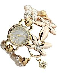 Tongshi Moda de lujo de la perla pulsera de cuarzo relojes relojes de las mujeres ocasionales