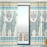 Mnsruu Voilage Voilage Ethnique Llama Alpaga Doux Rideaux pour Chambre Salon 140 cm x 213 cm 2 Panneaux