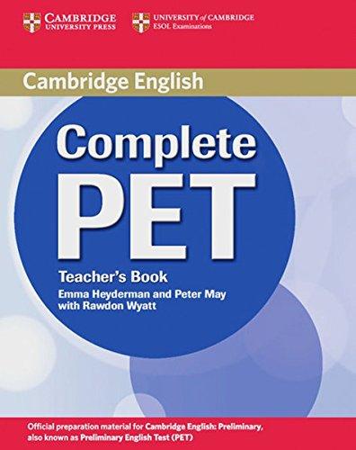 Preisvergleich Produktbild Complete PET: Teacher's Book