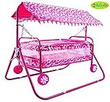 #7: BabyGo Baby Cradle Cot Cum Stroller (Pink)