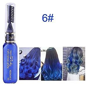 Beito 1 UNID Not tóxico Lavable Tiza para el pelo Tinte temporal para el cabello Tiza para el cabello Tinte para el cabello Rímel para el cabello Color de rímel(Rosad o)