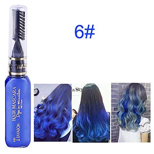 Beito 1 STÜCK Temporäre nicht toxische Farbe Haarfärbemittel Sofort Haarfärbemittel Stick Haarfarbe Mascara Waschbar Haar Kreide Für Perfekte Haar Styling Werkzeug (Blau)